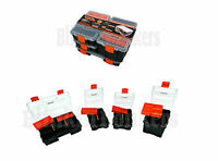4PC TOOL BOX SET CASE REMOVEABLE STORAGE TRAY TACKLE SCREW NUT BOLT ORGANISER