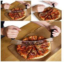 """Pizza Cutter - Stainless Steel 14"""" Heavy Duty Rocker Style Blade New"""