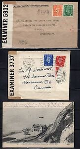 UK 1930's-40's SIX ON ACTIVE SERVICE COVER & POST CARD ONE WITH BRITISH & NAZI
