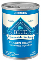 Blue Buffalo Homestyle Recipe Natural Adult Wet Dog Food, Chicken 12.5-oz can of