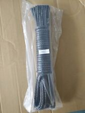 3/16inch*50 feet black synthetic winch rope cable with thimble