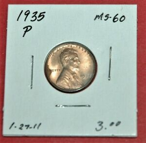 1935 P Lincoln wheat penny UNCIRCULATED  condition nice upgrade