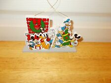 MICKEY MOUSE and the Gang Hand-Painted Wooden Ornament from 1987