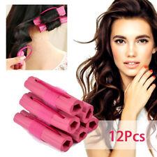 12Pcs Magic Soft Foam Sponge Hair Curler Hair Roller DIY Wavy Hair Styling Tools