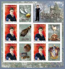 Feuillet F114 - Harry Potter - 5 timbres autoadhésifs avec vignette - 2007