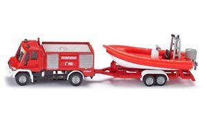 Siku Unimog Fire Engine With Boat 1:87 scale diecast metal 1636