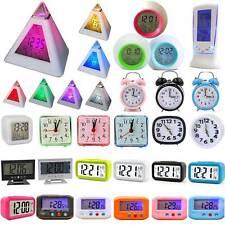 Alarm Mini Portable Automotive Digital Calendar Kid Bedside Snooze Clock Decor
