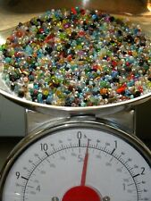 NEW 1/4 Pound LOT 3mm-6mm CRYSTAL RONDELLE GLASS Faceted Czech Beads Mixed