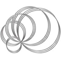 Metal Rings Hoops 15 Pieces Craft Silver Rings for Dream Catcher, Macrame a A4U2