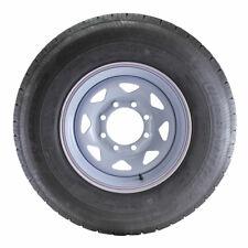 ST235/80R16 Globaltrax Trailer Tire LRE on 8 Bolt White Spoke Wheel
