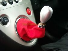 FOR HONDA CIVIC EP3 TYPE R 2001-05 GEAR GAITER RED SUEDE FAUX