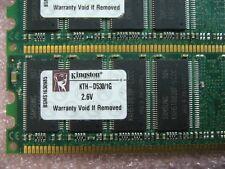 QTY 1x 1GB DDR 400Mhz PC3200 desktop non-ECC memory stick Kingston KTH-D530/1G