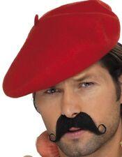 Hombre Francés Francés Hombre Disfraz Boina rojo NUEVO De SMIFFYS