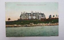 Postcard Morton F. Plants Residence New London Connecticut CT 1909