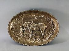 PLAT CREUX OU GRAND VIDE-POCHE ancien, bronze, cheval, enfant, chien
