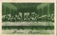 1931 Porto Marghera - L'ultima Cena, Buona Pasqua - FP B/N VG