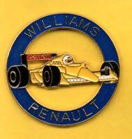 Pins Pin's lapel pin Williams Renault Canon Camel Rond Bleu F1 Jaune Signé