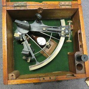 E. Lorieux Paris Sextant in Original Wooden Box Nautical UCSC No 141