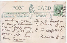Genealogy Postcard - Family History - Coombes - South Hampstead - London  BH5506