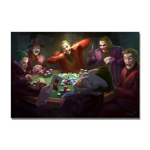 Jokers Playing Poker Movie Poster Funny Wall Art Painting HD Print Home Decor