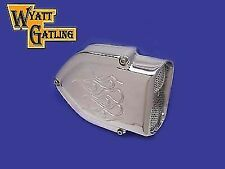 Wyatt Gatling Chrome Air Cleaner Kit for Harley Davidson by V-Twin