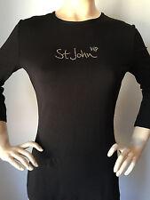 St John Knit Size XL Womens Top Black Gold VIP Signature Spandex Rayon 36e4ac3e5