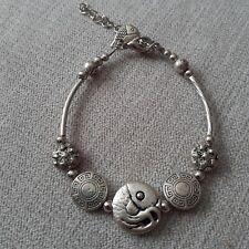 Women-girls- mans - Tibetan 925 Silver Charm Bracelet- New