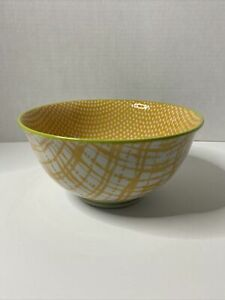 Anthropologie Yellow Abstract Marta Pasta Bowl Made in Japan Ceramic