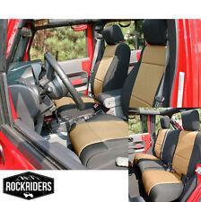 2008-2012 Jeep Wrangler Unlimited 4 Door Neoprene Seat Covers Set Black & Tan