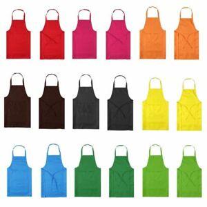 Thicken Cotton Polyester Blend Anti-wear Cooking Kitchen Bib Apron With Pocket