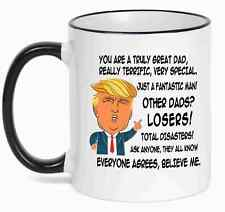 Gift for DAD, Donald Trump Great DAD Funny Mug Fathers Day Gift for Dad