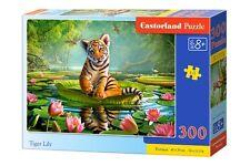 Castorland B-030156 Puzzle Tiger Lily Tiere Natur Wald Kinderpuzzle 300 Teile