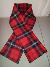 """1-Black, Red, White Patterned Fleece Scarf  7"""" W x 56"""" L  Soft, New & Handmade!"""
