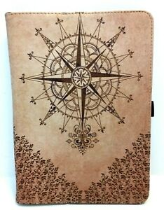 """For Huawei MediaPad T3 10"""" Tablet Slim Case Stand Cover Compass Barock Design"""