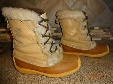 Vintage Womens Nanook Sorel Sz 5 Fur Trim Winter Snow Boots Removable Liners