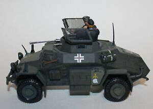 21st Century Toys Ultimate Soldier German sdkfz 222 Armored Vehicle + 2 Soldiers