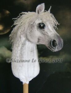 Welsh Pony art painting mini hobby horse hand made painted by Suzanne Le Good