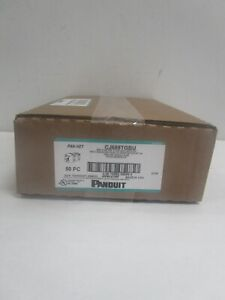 BOX OF 50 PANDUIT MINI-COM TX6 PLUS JACKS CJ688TGBU NEW SEALED FREE SHIPPING!