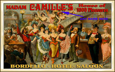 BEAUTIFUL PERSONALIZED VINTAGE STYLE WESTERN BORDELLO MADAM SIGN READY TO FRAME