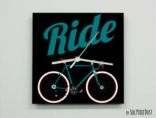 Ride a Bicycle Wall Clock