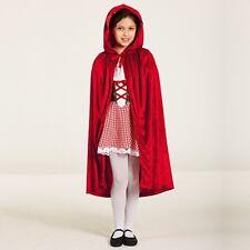 Red Hooded Cloak - Red Riding Hood Fancy Dress Cape - Dance Costume