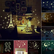 Kids Ceiling Wall Stickers Bedroom Glow in the Dark Stars Moon Decoration DIY
