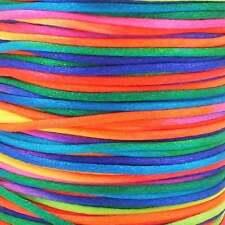 1mm Rattail Satin Cord - Rainbow - 5m