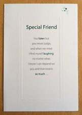 "'Thank You For Being A Wonderful Friend' Carte Blanche Card - 7.75""x5.25"""