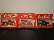 COCA COLA BRAND DIE-CAST CARS FORD V8 1936 DELIVERY TRUCKS LOT OF 3 1996