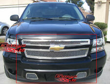 SS 2.5mm Mesh Grille Combo For 07-14 2013 2014 Tahoe/Suburban/Avalanche
