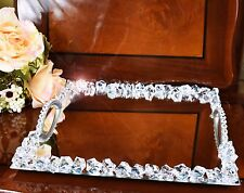Crystal Diamante Arabian/Turkish Style Serving Mirror Tray with Handle Wedding