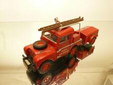 MATCHBOX YFE2 LAND ROVER FIRE TRUCK + TRAILER - RED 1:43 - GOOD CONDITION