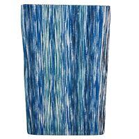 Ocean Watercolor Stripes Vinyl Tablecloth Gorgeous Blues Aqua Coastal Asst. Sz