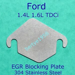EGR blanking plate Ford 1.4 1.6 TDCi Volvo D Peugeot Citroen HDi Mazda 1.5mm S/S